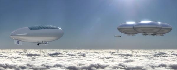 Ilustrasi kota melayang. Kredit: Advanced Concepts Lab/NASA Langley Research Center