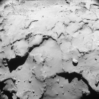 Foto dari ketinggian 17,4km. Kredit: ESA/Rosetta/NAVCAM – CC BY-SA IGO
