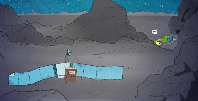 Wahana Rosetta dan Penjejak Philae dalam tidur panjangnya di kepala komet 67P/Churyumov-Gerasimenko. Kredit: ESA