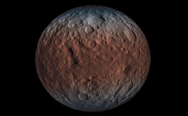Ceres, planet kecil di antara Mars dna Jupiter. Asteroid pertama yang ditemukan para astronom. Kredit: NASA