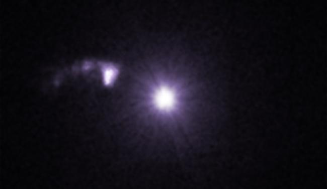 Pasangan bintang Cygnus X-3 dalam sinar-X. Kredit: NASA/CXC/SAO/M.McCollough et al, Radio: ASIAA/SAO/SMA