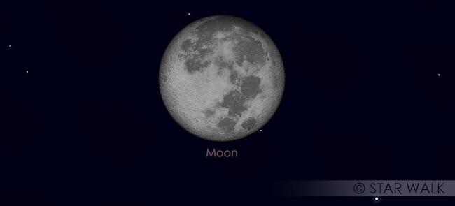 Kontak Pertama Gerhana Bulan Penumbra 11 Februari 2017. Kredit: Star Walk
