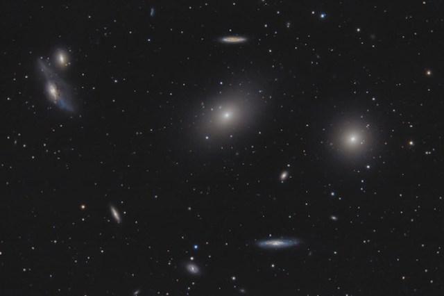 Galaksi M84 & M86. Kredit: Scott Rosen's Astrophotography