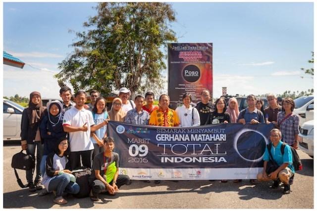 Perjalanan tim UNAWE Indonesia ke Poso untuk pengamatan Gerhana Matahari Total. Kredit: UNAWE Indonesia