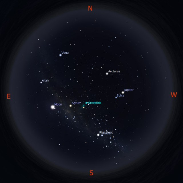 Peta bintang 15 Mei 2017 pukul 23:59 WIB. Kredit: Stellarium