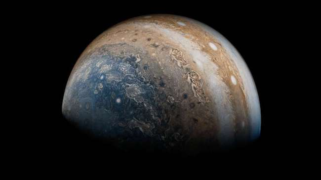 Jupiter. Kredit: NASA/JPL-Caltech/SwRI/MSSS