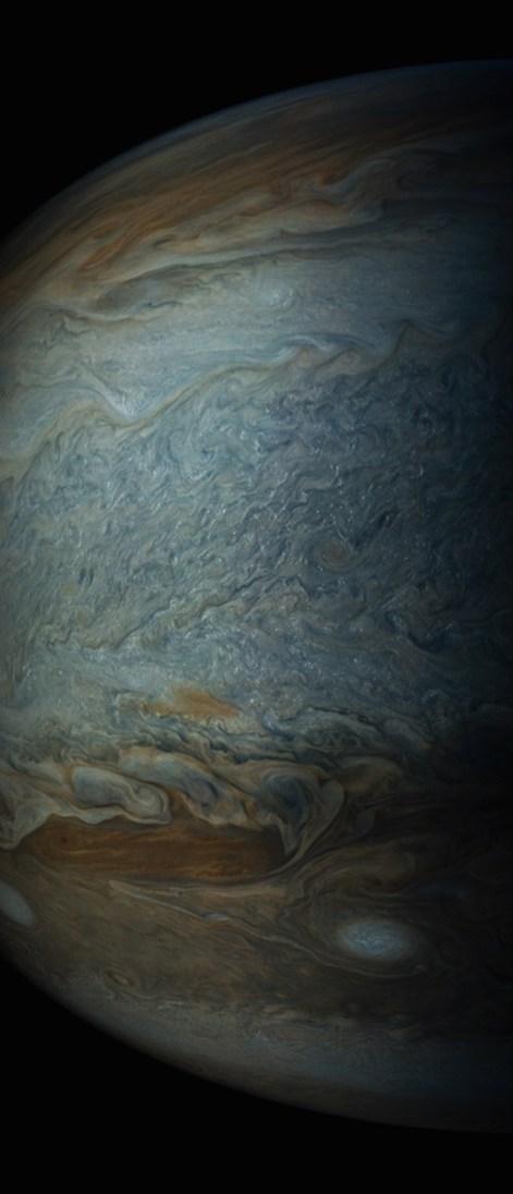 Bintik Jupiter dari ketinggian 12,858 kilometer. Kredit: NASA/SWRI/MSSS/Gerald Eichstadt/Sean Doran