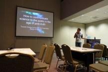 Paparan tentang media sains untuk astronomi oleh Editor Majalah PanSci dalam pelatihan Komunikasi Sains dari IAU OAO di APRIM 2017. Kredit: langitselatan