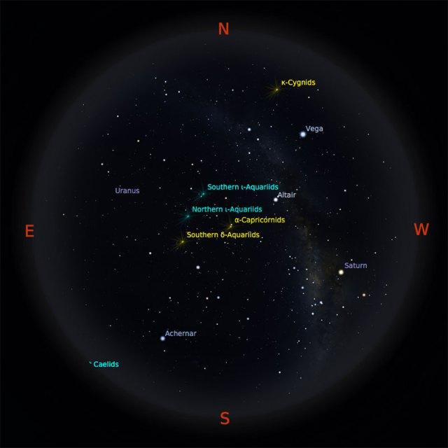 Peta bintang 15 Agustus 2017 pukul 23:59 WIB. Kredit: Stellarium
