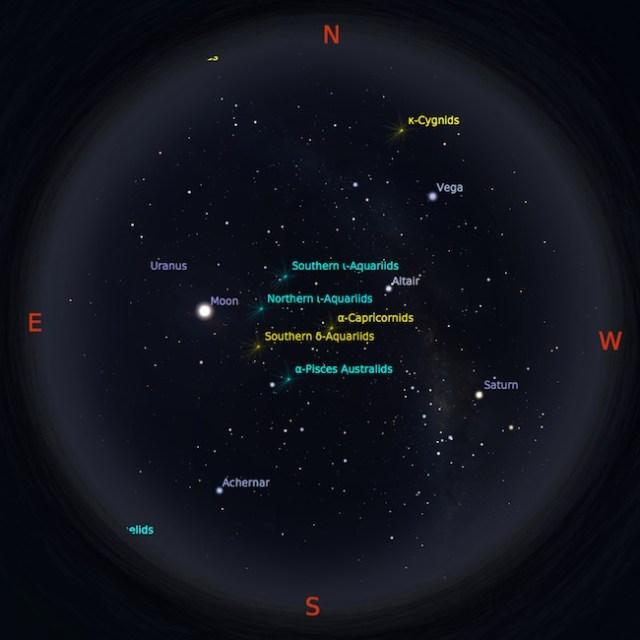 Peta bintang tanggal 12 Agustus pukul 00:01 WIB. Kredit : Stellarium