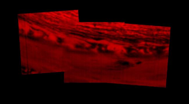 Montase foto lokasi dimana Cassini akan terjun bebas. Kredit: NASA/JPL-Caltech/Space Science Institute