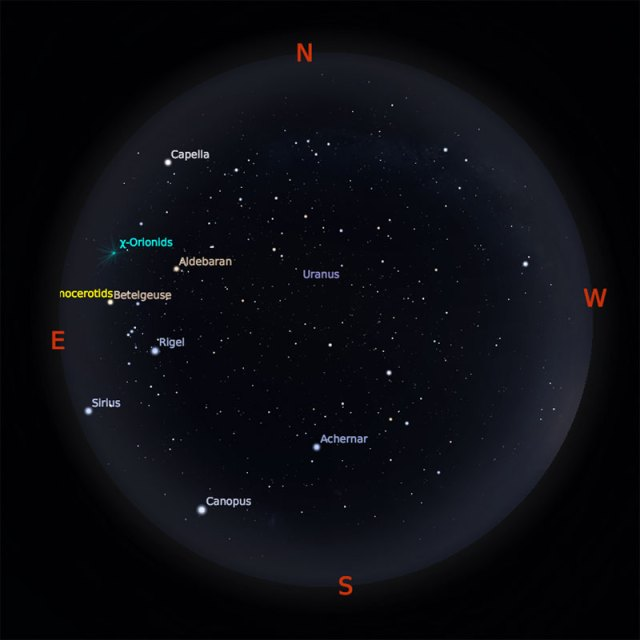 Peta Bintang 15 Desember pukul 19:00 WIB. Kredit: Stellarium
