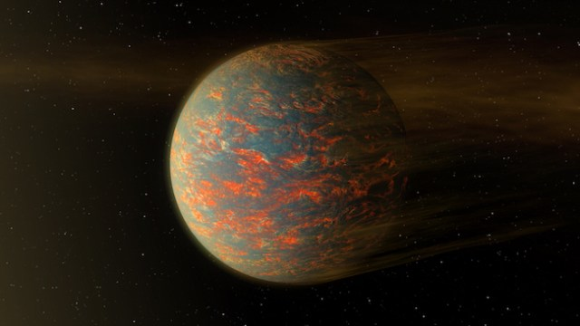 Ilustrasi planet 55 Cancri e. Kredit: NASA/ Robert Hurt