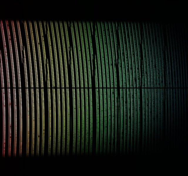 Data spektrum yang diterima ESPRESSO dari cahaya pertamanya. Kredit: ESO/ Tim ESPRESSO