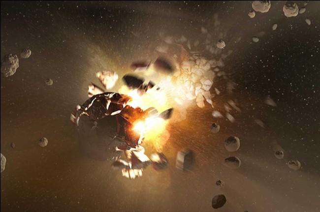 Ilustrasi tabrakan asteroid. Kredit: NASA/JPL-Caltech