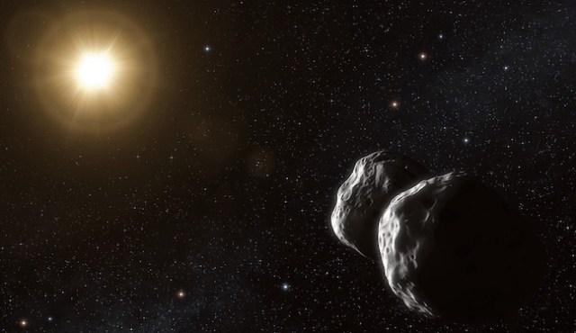 Ilustrasi asteroid yang mengitari bintang dari kejauhan. Kredit: ESO