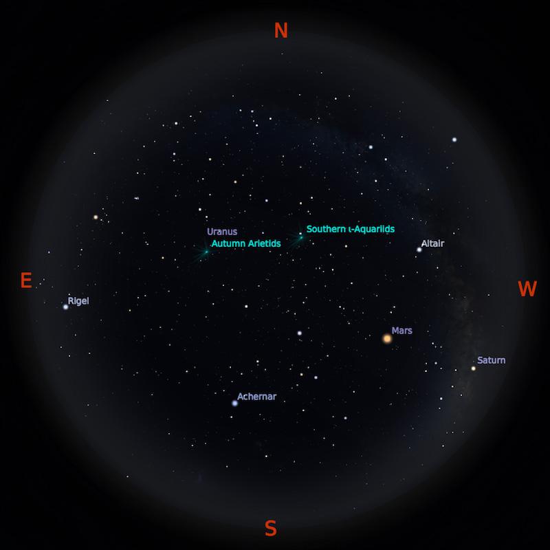 Peta Bintang 15 September 2018 pukul 23:59 WIB. Kredit Stellarium