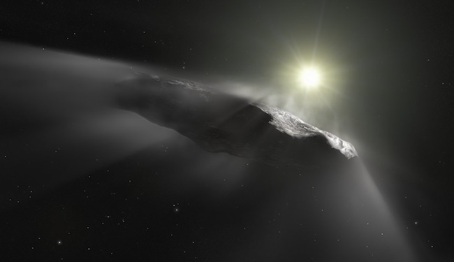 Ilustrasi 'Oumuamua. Kredit: ESA/Hubble, NASA, ESO, M. Kornmesser