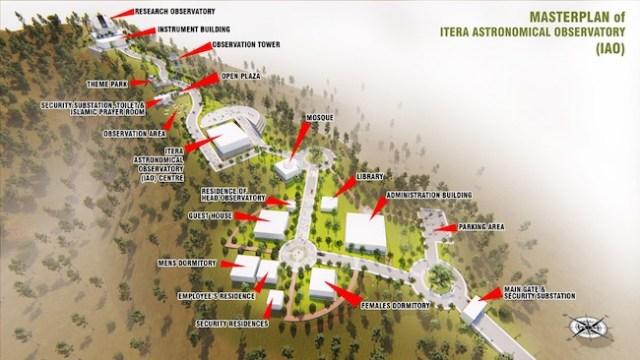 Rencana pembangunan Observatorium Astronomi Lampung atau Lampung Astronomical Observatory (LAO). Kredit: ITERA