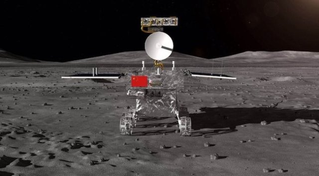 Ilustrasi Chang'e 4 di Bulan. Kredit:CNSA