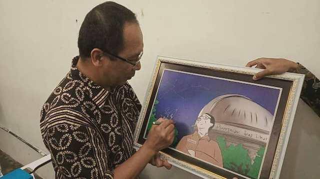 Ilustrasi Planetarium Jawa Timur yang ditandatangani Kepala LAPAN, Prof. Thomas Djamaluddin. Ide ini dikemukakan oleh FOKALIS Jawa Timur. Kredit: FOKALIS JATIM
