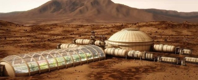 Ide dukungan kehidupan dalam Proyek Mars One di planet merah. Kredit: Mars One