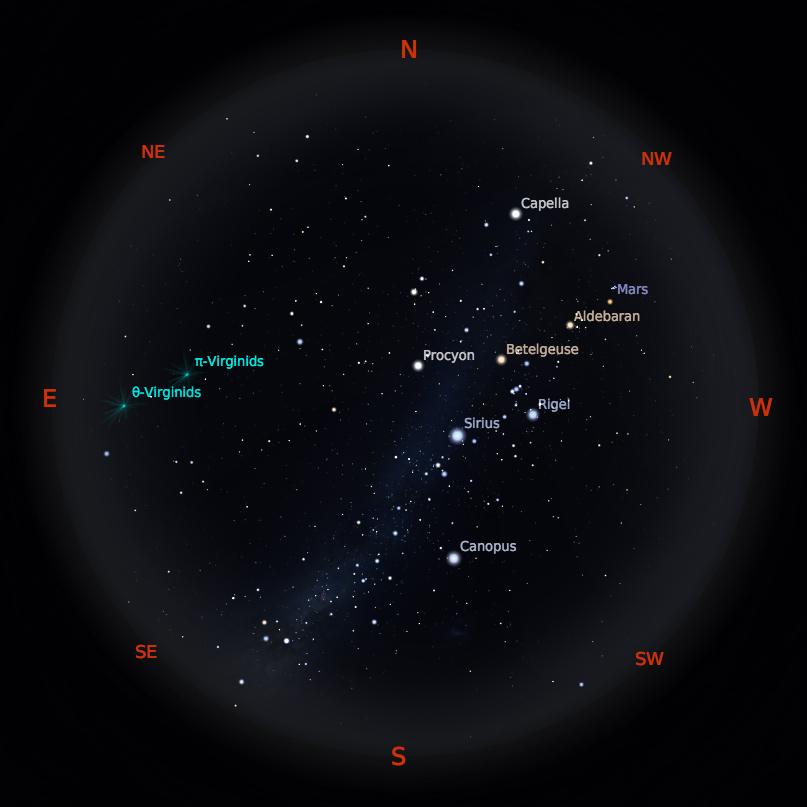 Peta Bintang 15 April 2019 pukul 19:00 WIB. Kredit: Stellarium
