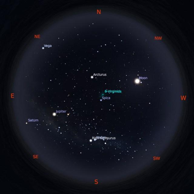 Peta Bintang 15 April 2019 pukul 23:59 WIB. Kredit: Stellarium