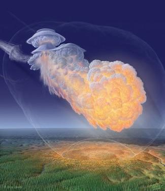 Kala Matahari Menjadi Dua, Asteroid Meledak di Udara dekat Kutub Utara