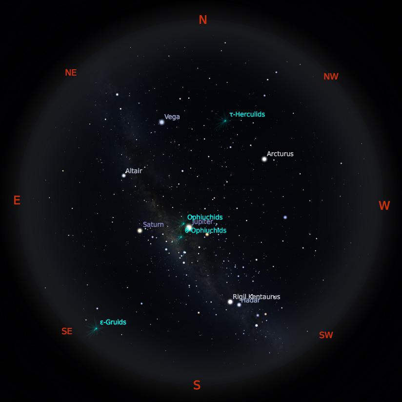Peta Bintang 1 Juni 2019 pukul 23:59 WIB. Kredit: Stellarium