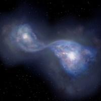 Tabrakan Galaksi Generasi Awal di Alam Semesta
