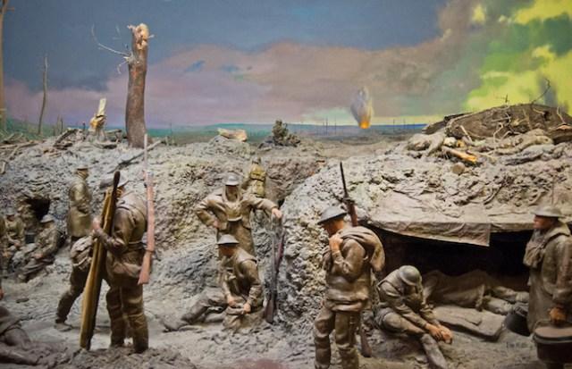 Penjelasan tentang parit perlindungan selama Perang Dunia 1. Kredit: situs Perang Dunia 1