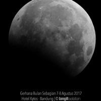 Gerhana Bulan Sebagian 17 Juli 2019 dari Indonesia