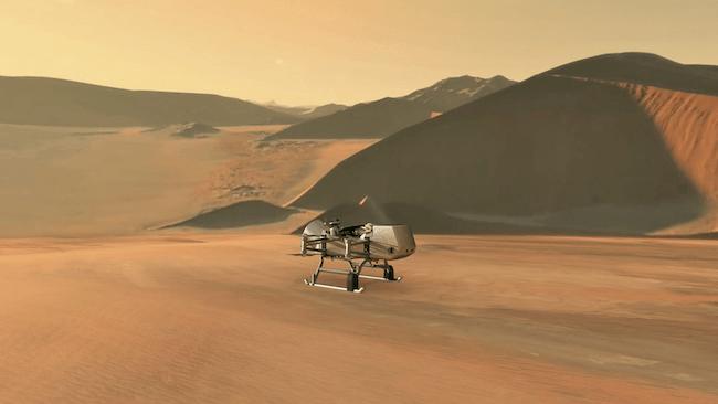 Dragonfly di Titan. Kredit: Johns Hopkins APL