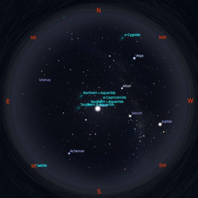 Peta Bintang 15 Agustus 2019 pukul 23:59 WIB. Kredit: Stellarium