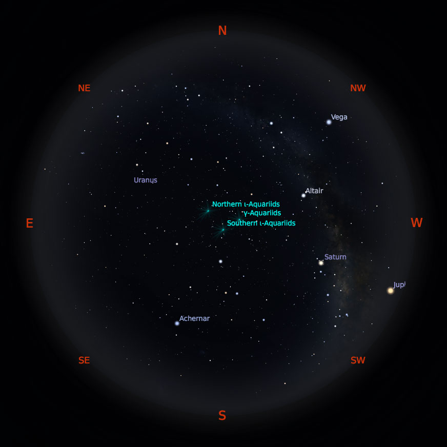 Peta Bintang 1 September 2019 pukul 23:59 WIB. Kredit: Stellarium