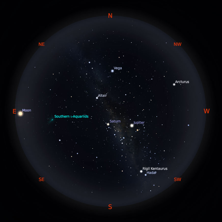 Peta Bintang 15 September 2019 pukul 19:00 WIB. Kredit: Stellarium