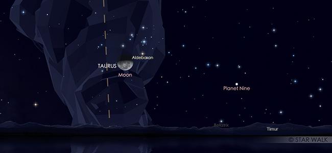 Konjungsi Bulan dan Aldebaran pada tanggal 20 September pukul 23:30 WIB. Kredit: Star Walk
