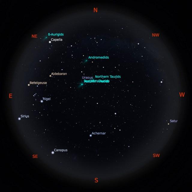 Peta Bintang 1 Oktober 2019 pukul 23:59 WIB. Kredit: Stellarium