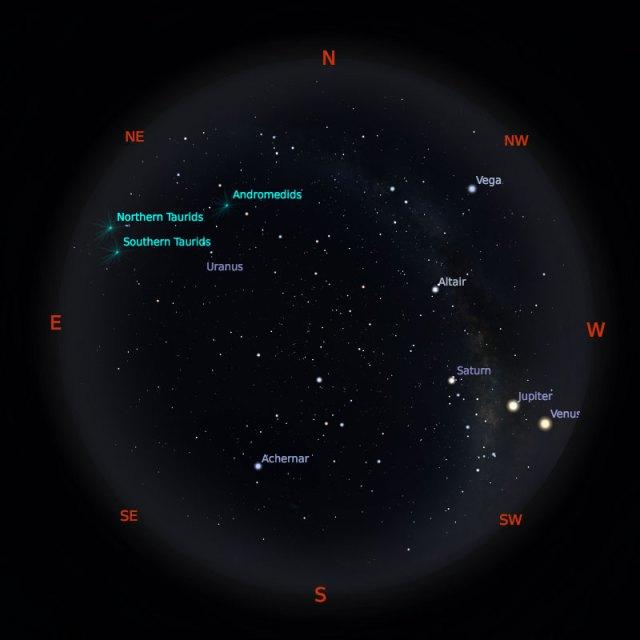 Peta Bintang 15 November 2019 pukul 19:00 WIB. Kredit: Stellarium