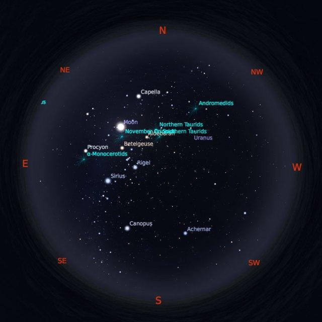 Peta Bintang 15 November 2019 pukul 23:59 WIB. Kredit: Stellarium