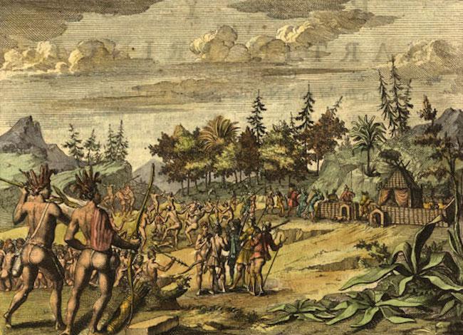 Ilustrasi suku asli Powhatan. Kredit: The History Files