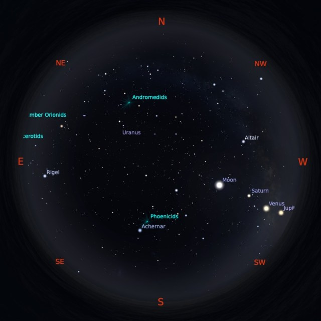 Peta Bintang 1 Desember 2019 pukul 19:00 WIB. Kredit: Stellarium