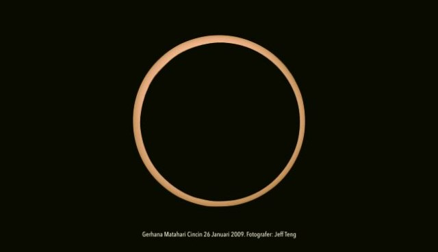 Ring Solar Eclipse pada 26 Januari 2009 di Lampung. Foto: Jeff teng
