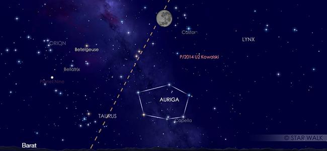 Bulan saat puncak gerhana penumbra pada tanggal 11 Januari pukul 02:11 WIB. Kredit: Star Walk