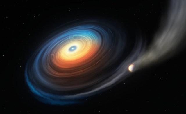 Ilustrasi bintang katai putih dan planetnya yang mirip Neptunus. Kredit: ESO/M. Kornmesser