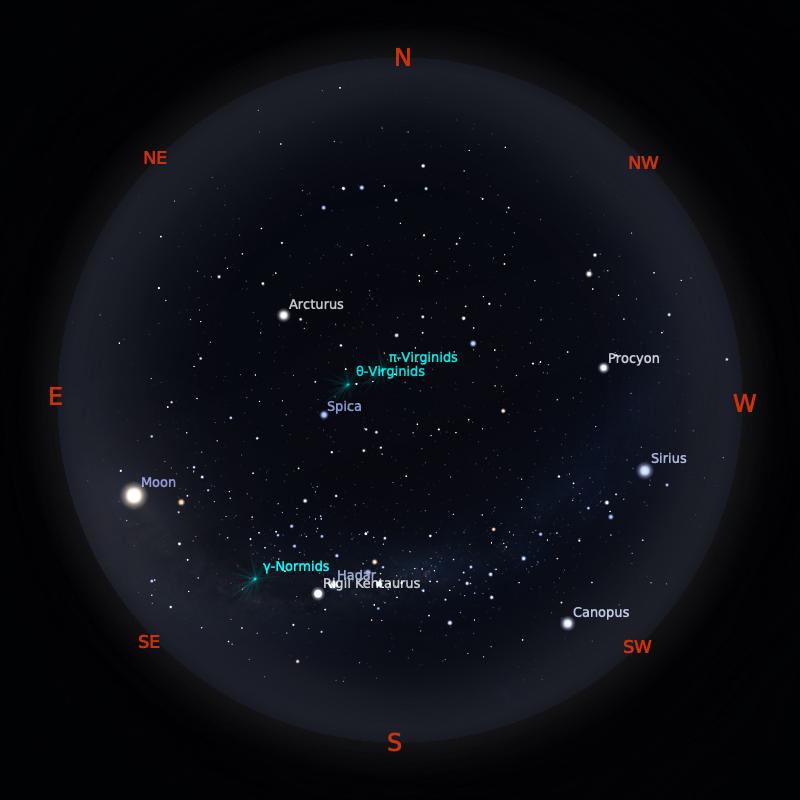 Peta Bintang 15 Maret 2020 pukul 23:59 WIB. Kredit: Stellarium