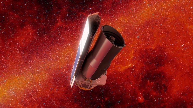 Teleskop Spitzer. Satu dari Empat Observatorium Besar yang mengorbit Bumi. Kredit: NASA/JPL-Caltech