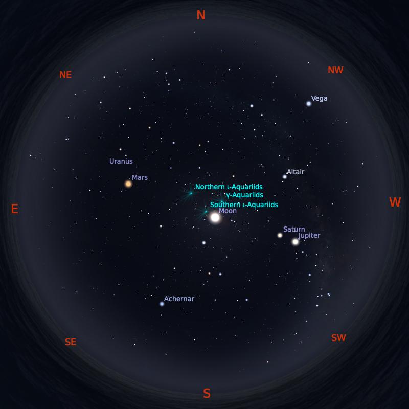 Peta Bintang 1 September 2020 pukul 23:59 WIB. Kredit: Stellarium