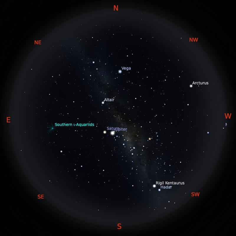 Peta Bintang 15 September 2020 pukul 19:00 WIB. Kredit: Stellarium